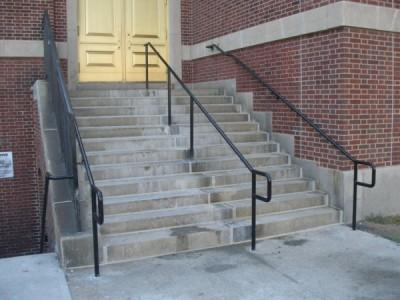 Pipe railings / welded, core drilled, ADA compliant (Brooklyn, NY)