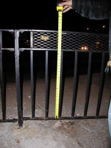 "32"" tall 3/4"" bar and expanded metal welded railing / guard rail fence for Queens, Blvd. (Queens, NY)"