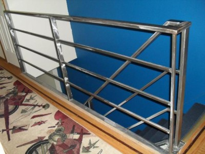 Tubular steel polished steel railings. (Newark, NJ)
