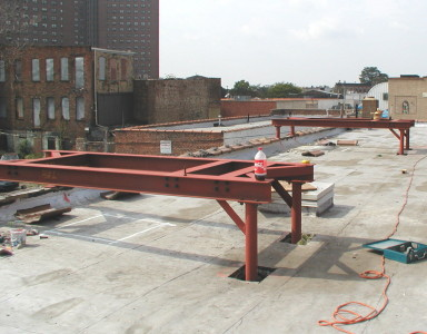 Structural roof dunnage installed (NY Tri-State Area)