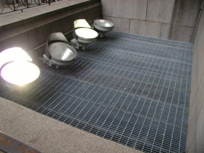 Galvanized grating security installed with lockable door. (Federal Facility – Manhattan, NY)