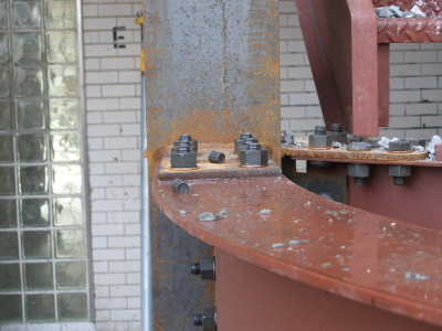 Structural bent beams and plates at moment connection with High strength torque bolts. (Apartment complex building – Bronx, NY)