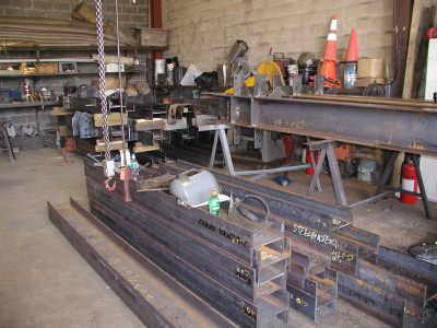 Structural steel fabrication with fully welded stiffener plates. (Fabrication shop – Brooklyn, NY)