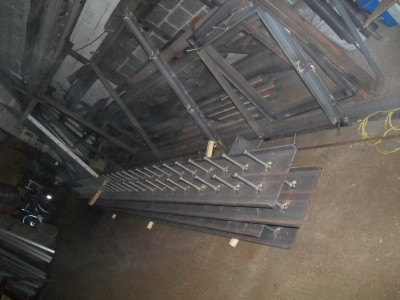 Structural steel lentles with nelson studs welded. (Fabrication shop – Brooklyn, NY)