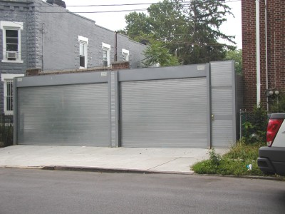 Motorized flat slat coiling roll down doors. (Brooklyn NY)