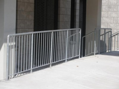 4' steel simple pipe fence/ Barricade. (Brooklyn, NY)