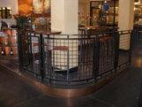 Custom welded wire mesh steel bent guardrail. (NY, NY)