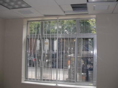 Steel welded flat stock window guards. (NY, NY)