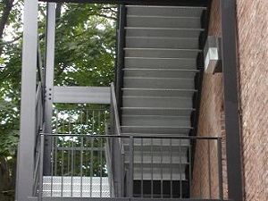 steel staircase steps iron