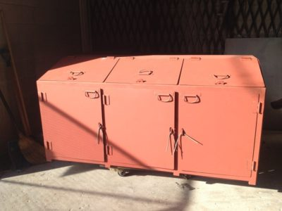 Commercial Steel Trash Can Enclosure