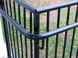 Guard railing steel solid