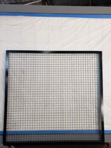 steel wire mesh fixed panel welded agle iron frame.