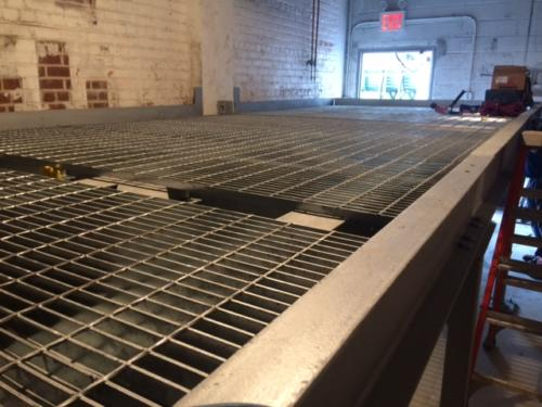 catwalk mezzanine mechanical room galvanized grating