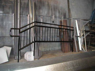 Pipe Stair rails welded pickets