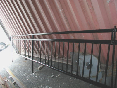 Tube steel guard rails solid pickets