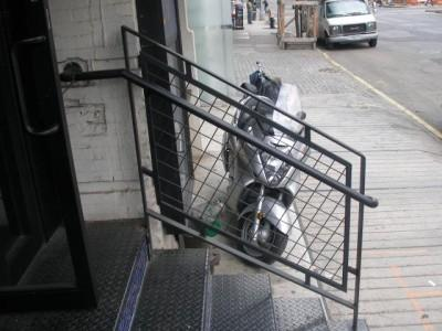 Steel welded wire mesh guard rail handrail