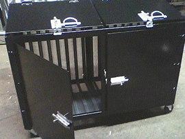 galvanized back black bin