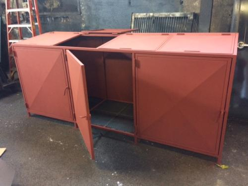 garbage bin steel enclosure
