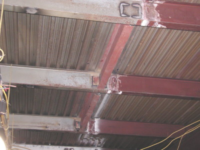 Structural steel industrial renovation welded cross brace