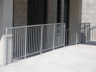 4′ steel simple pipe fence Barricade. (Brooklyn, NY)