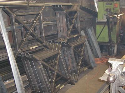 4′ tall custom designed welded tubular fence/railing powered coated finish. (Staten Island) 1 of 3