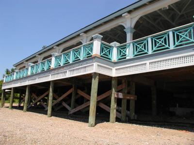 4′ tall custom designed welded tubular fence/railing powered coated finish. (Staten Island)