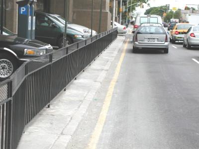 Steel barricade fence 3′ /commercial. (NY, NY)