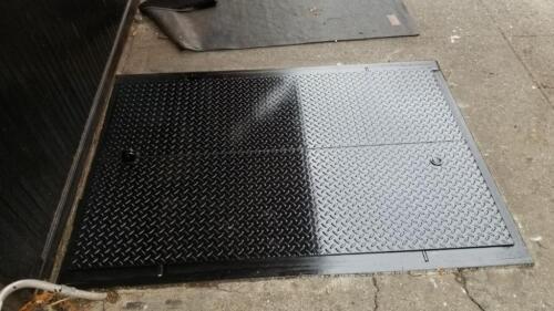 Cellar Steel doors sidewalk city violation